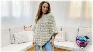 Poncho Gelato Lidia Crochet Tricot