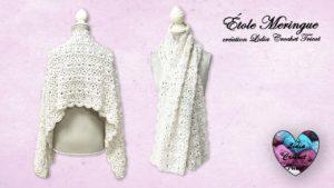 Étole Meringue Lidia Crochet Tricot