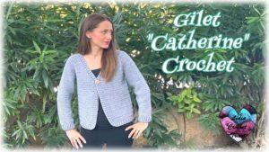 Gilet en V Catherine Lidia Crochet Tricot
