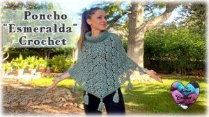 Poncho Esmeralda Lidia Crochet Tricot