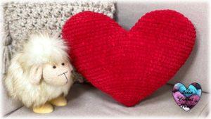 Coussin cœur Lidia Crochet Tricot